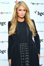 Paris Hilton Stills at BGC Partners Charity Day Commeorating 9/11 in New York