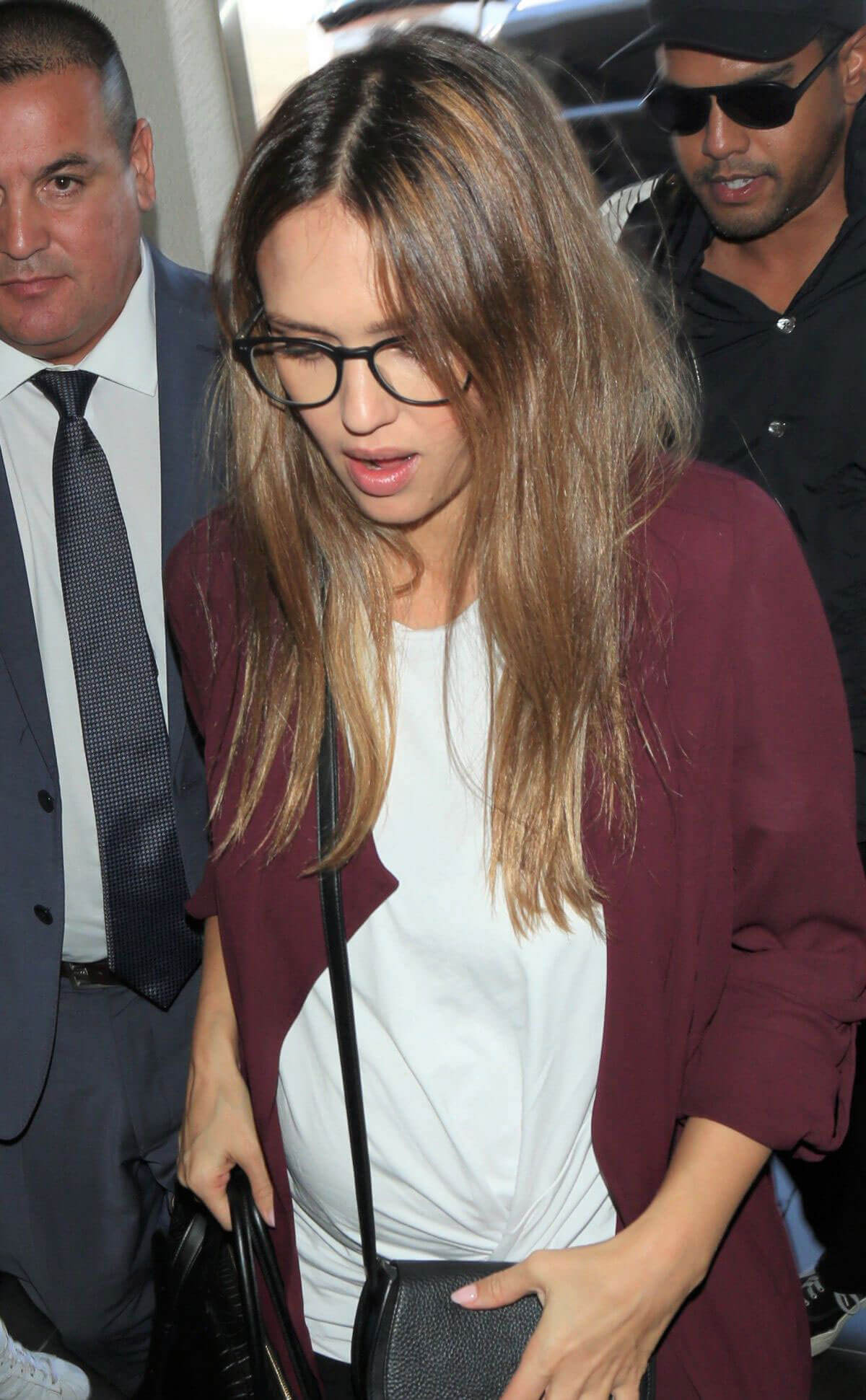 Pregnant Jessica Alba Stills at Los Angeles International Airport