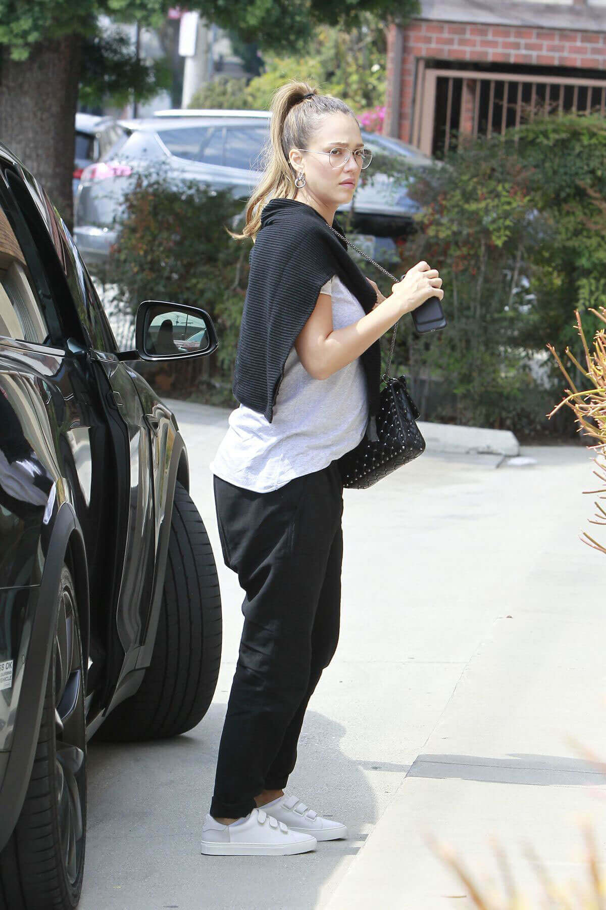 Pregnant Jessica Alba Stills Out and About in Los Angeles
