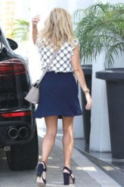Reese Witherspoon displays legs in navy skirt out and about in Beverly Hills