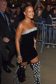 Rihanna wears Long Boots Heading to Sephora in New York
