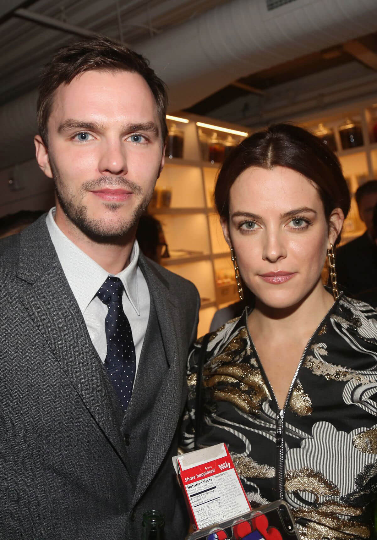 "Riley Keough with Nicholas Hoult at ""Rebel in the Rye"" Movie Premiere in New York"
