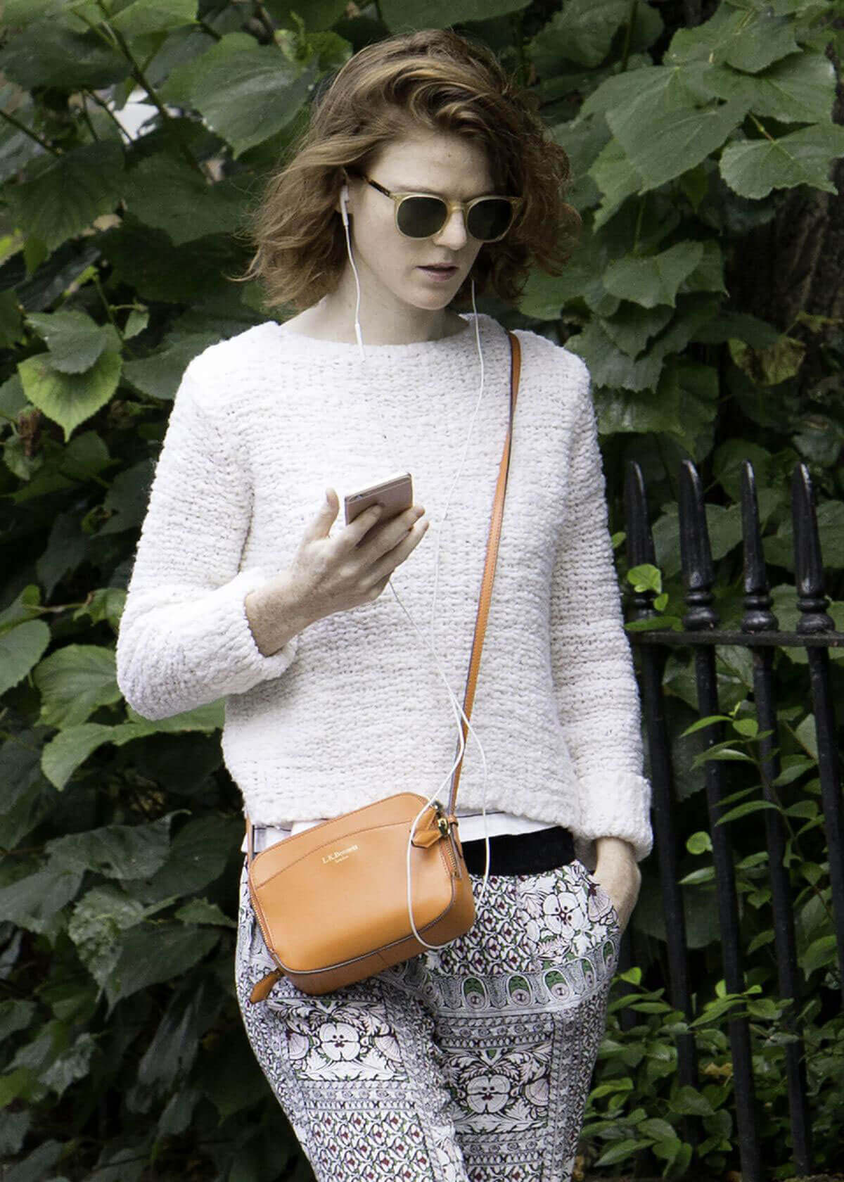 Rose Leslie Stills Out and About in London