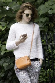 Rose Leslie Stills Out and About in London Photos