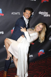 Sasha Pieterse Stills Arrives at DWTS Press Conference in New York