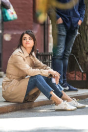 Selena Gomez on the Set of a Woody Allen Movie in New York