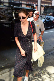 Selena Gomez shows off legs in Dress Out and About in New York