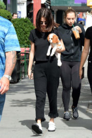 Selena Gomez Stills Out with Her New Puppy in New York