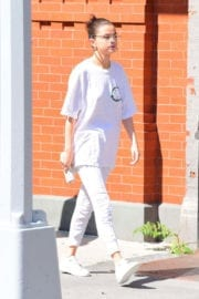 Selena Gomez wears All White Dressup Out and About in New York