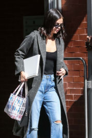Selena Gomez wears Tube Top & Ripped Jeans Out in New York