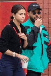 Selena Gomez with The Weeknd Stills Out for Coffee in New York