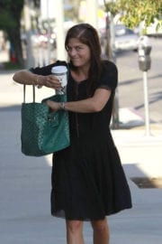 Selma Blair wears black dress out shopping in Los Angeles