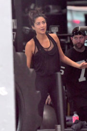 Shay Mitchell Poses at a Gym in New York