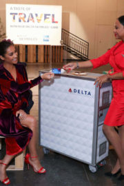 Shay Mitchell Stills at Blue Delta Skymiles Credit Card from Amex Launch in New York