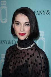 St. Vincent Stills at Tiffany & Co. Fragrance Launch in New York