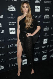 Suki Waterhouse shows off Her Legs at Harper's Bazaar Icons Party in New York