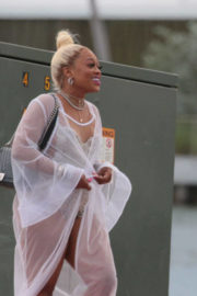 Trina Stills in Swimsuit Boards Blac Chyna's Yacht in Miami