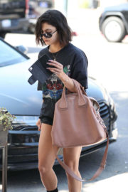 Vanessa Hudgens Shows off Legs in denim short at a Spa in West Hollywood