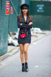 Victoria Justice Shows Off Her Legs Out in New York City