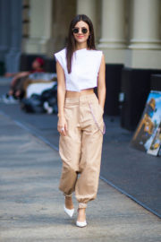 Victoria Justice wears Stylish Top Stills Out in New York