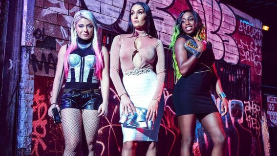 WWE Divas Alexa Bliss, Nikki Bella and Naomi Photoshoot in WWE New York City 2017