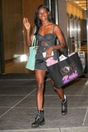 Zuri Tibby Stills at Fittings for Victoria's Secret Fashion Show in New York