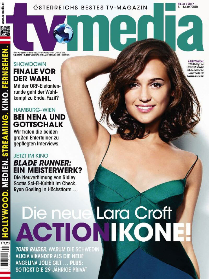 Alicia Vikander Stills in TV Media Magazine, October 2017