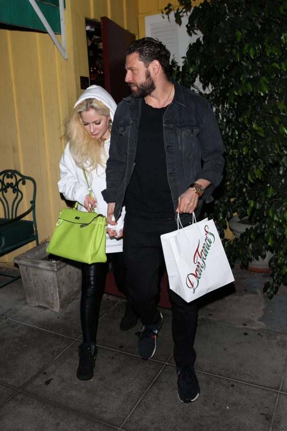 Avril Lavigne and Jonathan Reuven Out for Dinner in West Hollywood Photos