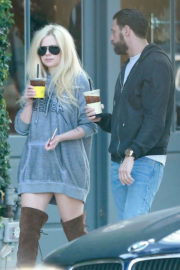 Avril Lavigne and Jonathan Reuven Stils Out for Coffee in West Hollywood
