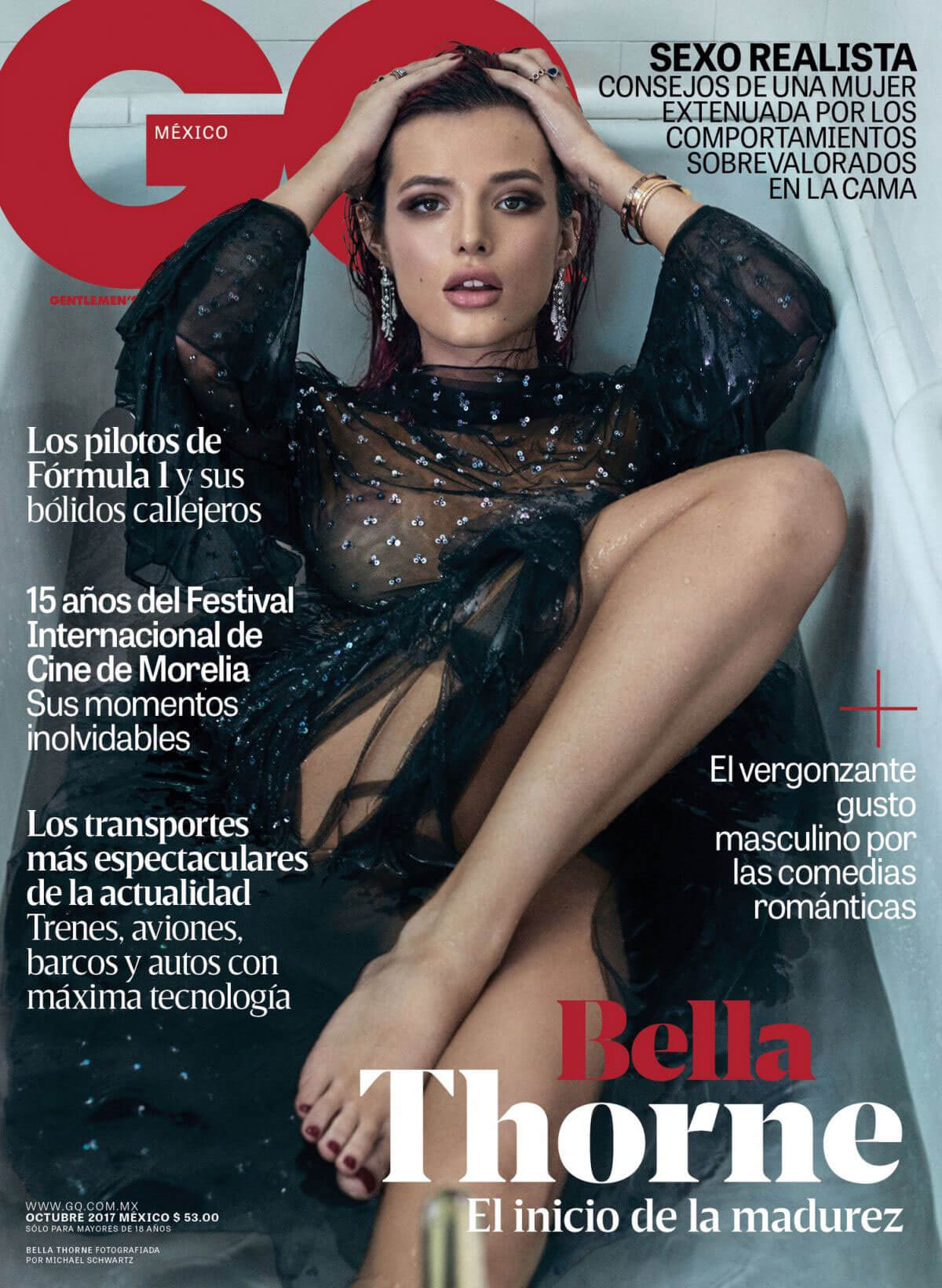 Bella Thorne Poses for GQ Mexico Magazine Photoshoot, October 2017