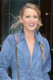 Blake Lively Stills Arrives at a Office Building in New York