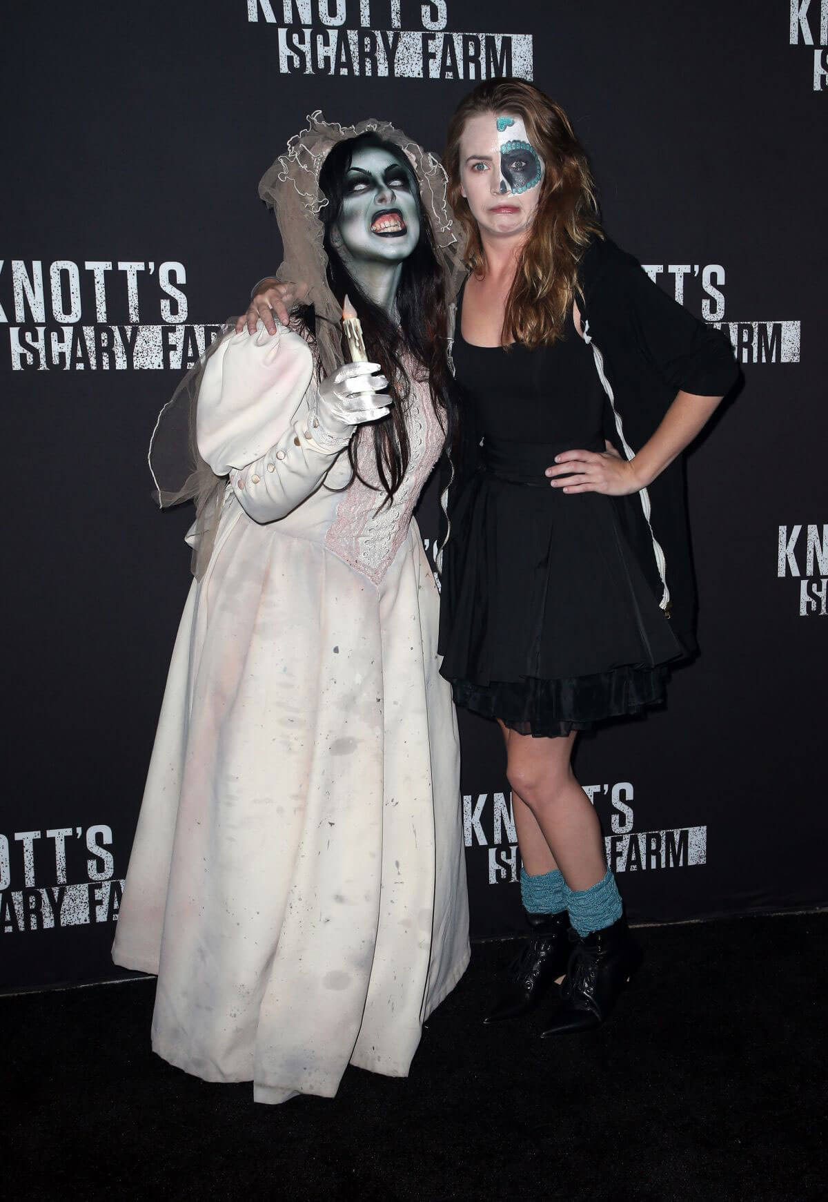Britt Robertson Stills at Knott's Scary Farm Celebrity Night in Buena Park