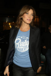 Carla Bruni Stills at Watch What Happens Live with Andy Cohen in New York