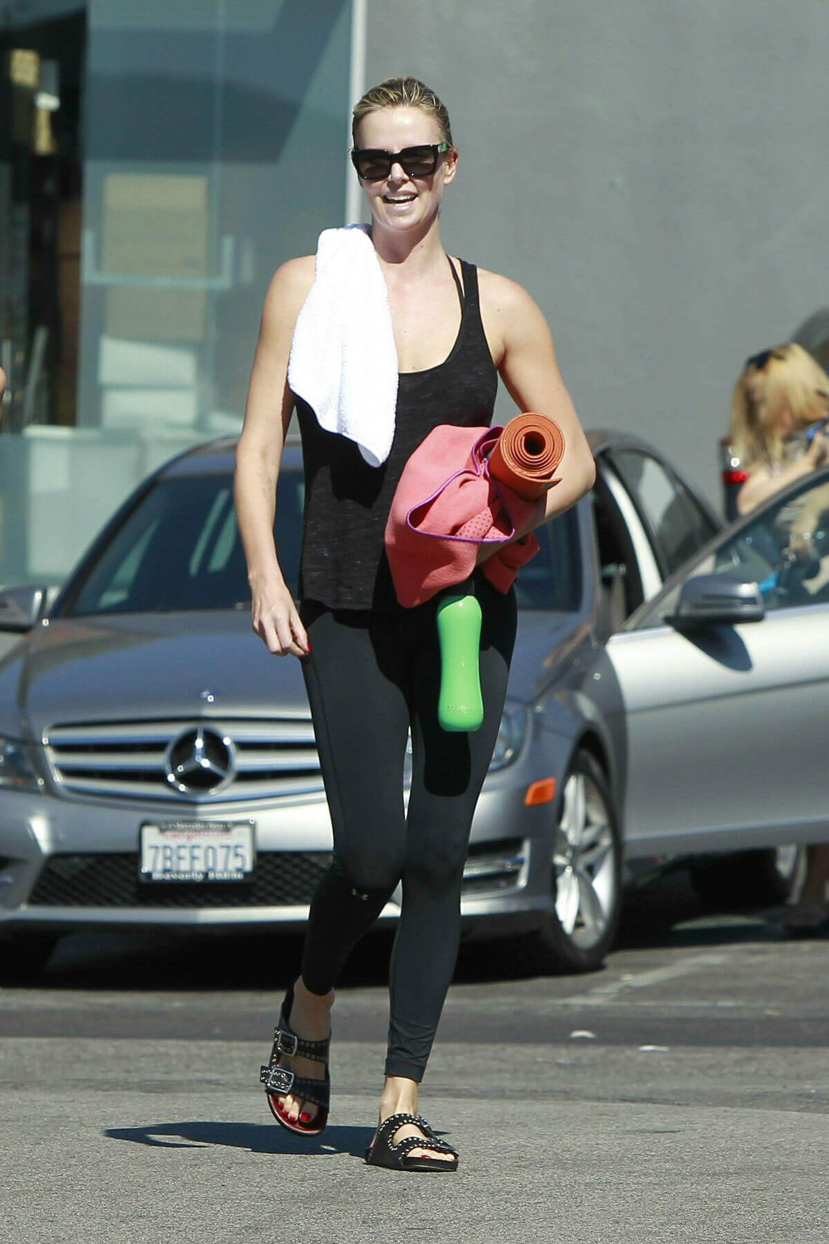 Charlize Theron Stills Leaves Yoga Class in West Hollywood