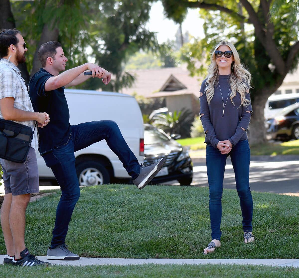 Christina and Tarek El Moussa Stills Film Their Show Flip or Flop in Orange County