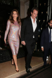 Cindy Crawford Stills at Omega Her Time Exhibition Launch Party in Paris