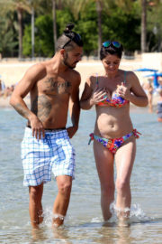 Danniella Westbrook in Bikini on the Beach in Ibiza