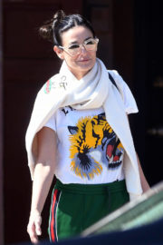 Demi Moore Stills Leaves Love Your Body Endermologie in West Hollywood