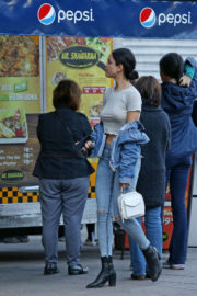 Eiza Gonzalez wears Ripped Jeans Out Shopping in Vancouver