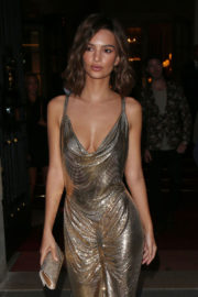 Emily Ratajkowski Stills at Omega Her Time Exhibition Launch Party in Paris