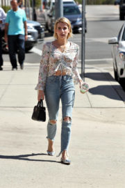 Emma Roberts Stills in Ripped Jeans Out in Los Angeles