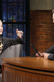 Emma Stone at Late Night with Seth Meyers in New York