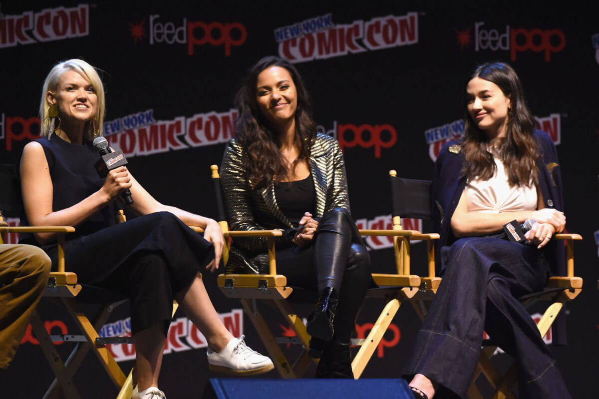 "Erin Richards Stills ""Gotham"" Panel at New York Comic Con"