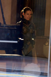 Evangeline Lilly Stills on the Set of Ant-man and the Wasp in Atlanta