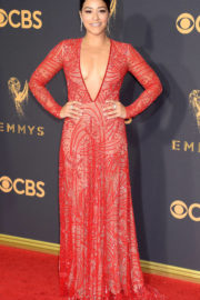 Gina Rodriguez at 69th Annual Primetime EMMY Awards in Los Angeles