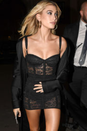 Hailey Baldwin Stills at Dolce and Gabbana After Party in Milan