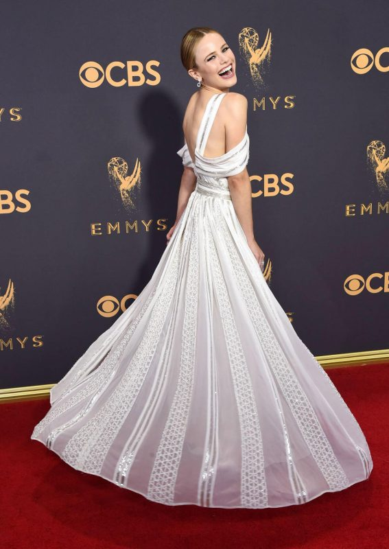 Halston Sage at 69th Annual Primetime EMMY Awards in Los Angeles