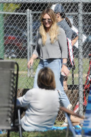 Hilary Duff Stills at Her Son's Little League Game in Los Angeles
