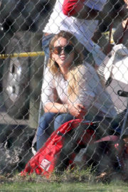 Hilary Duff Stills Watching her Son Play Baseball in Los Angeles