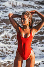 imberley Garner Stills in Swimsuit on the Set of a Photoshoot in Ibiza
